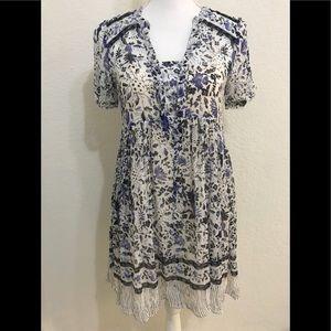 Anthropologie Maeve Sz 0 Boho Tunic Dress